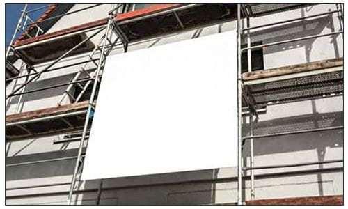 Werbeplanen PVC Bauwerbung