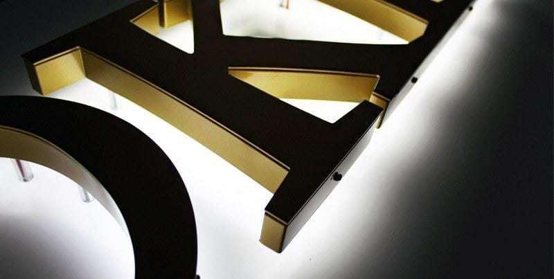 Lichtwerbeanlage Aluminium LED Leuchtbuchstaben